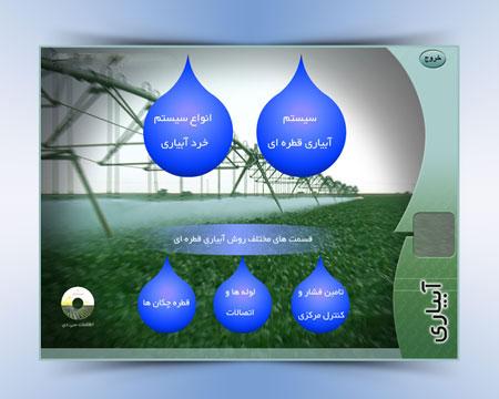 مولتی مدیای آشنایی با انواع سیستم های آبیاری