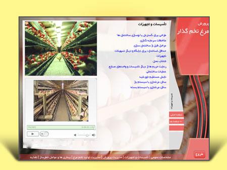 به صورت مالتی مدیا شامل فیلم , تصویر و مطالب آموزشی  قابل اجرا در کامپیوتر
