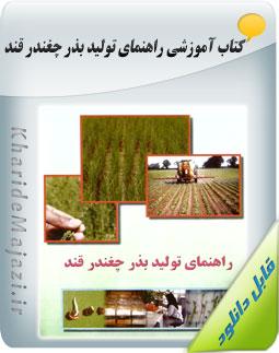 کتاب آموزشی راهنمای تولید بذر چغندر قند