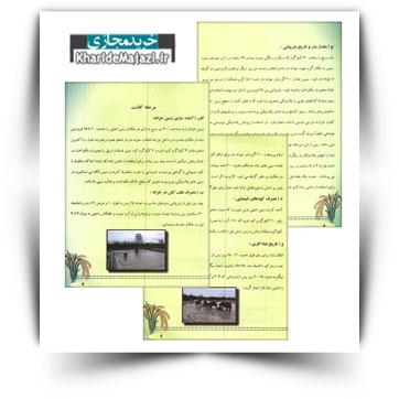 کتاب آموزشی اصول بهزراعی برنج رقم درفک